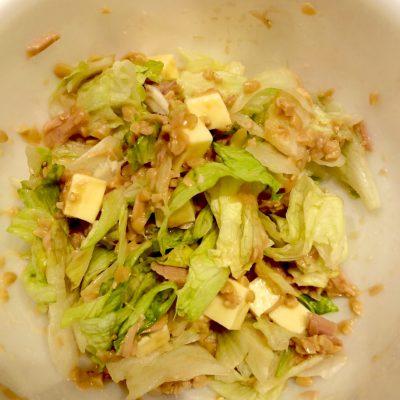 納豆サラダで健康に♪