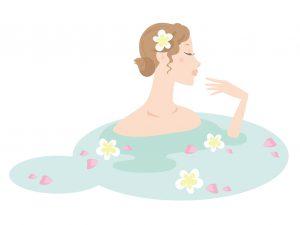 花のお風呂